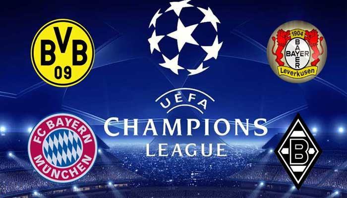 Deutsche Mannschaften in Champions League logos